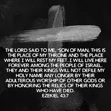 Image result for Ezekiel 43:7