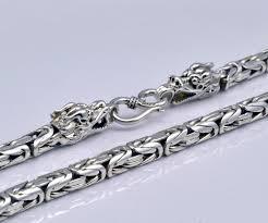interior 2018 gz 925 sterling silver dragon head chain necklace men jewelry 925 sterling silver