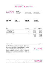 Template Of A Invoice Latex Templates Wile E Invoice