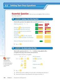 solving two step equations chaparral
