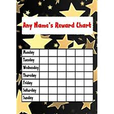 Gold Star Sticker Chart Gold Star Sticker Reward Chart Amazon Co Uk Toys Games