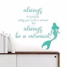 dwpq2384 mermaid wall quote by wallpops