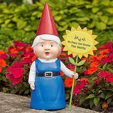 garden gnome.  Gnome Personalize Your Female Garden Gnome Statue With Choice Of Graphic And  2 Lines Text See More Personalized Gnomes At PersonalizationMallcom In Garden Gnome A