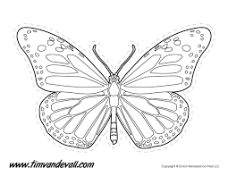 Printable Butterfly Outline Monarch Butterfly Outline Tims Printables