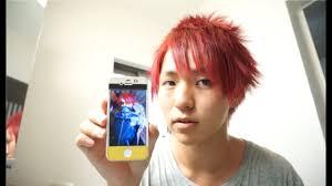 簡単に X Japanのhide風髪セット Youtube