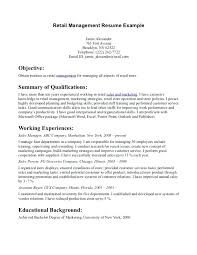 Objective For Retail Resume resume objective for retail cliffordsphotography 47