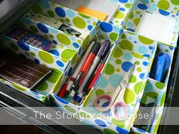 diy desk drawer organizer. Wonderful Organizer DIY Drawer Organizer From Cereal Boxes In Diy Desk