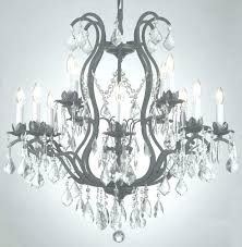 crystal and iron chandelier wrought iron chandelier with crystals 19th c rococo iron crystal chandelier medium