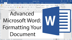 Microsoft Word Study Guide Template Advanced Microsoft Word Formatting Your Document