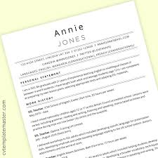 100% free resume builder to make, save and print a professional resume in minutes. Tefl Cv Template Free Ms Word Download Cvtemplatemaster Com
