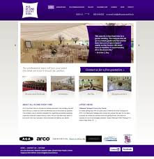 Marquee Website Design Web Design Example A Page On Allinoneeventhire Ie Crayon