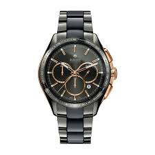 mens rado watches fraser hart jewellers official stockists rado hyperchrome match point men s automatic chronograph ceramic bracelet watch