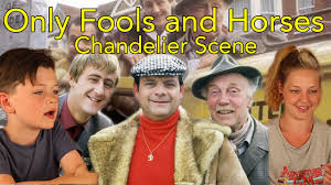 only fools and horses reaction chandelier scene head spread