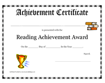 certificates of completion for kids printable reading achievement award certificate children s awards