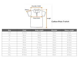Singapore Size Chart Cotton Polo Shirt Size Chart Thenoteway