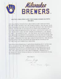 Lot Detail - 1982-84 circa Paul Molitor Milwaukee Brewers Signed ...