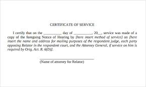 Employment Certificate Template Custom 44 Certificate Of Service Templates To Download For Free Sample