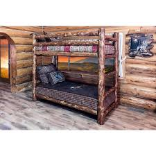 montana woodworks glacier country twin over twin wood bunk bed mwgcbbn the home depot