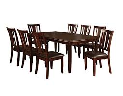 Awesome Furniture Of America Frederick 9 Piece Dining Table Set With 18 Inch  Expandable Leaf