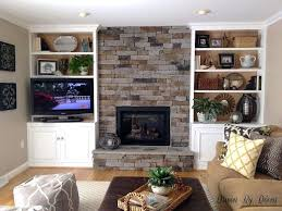 building a fireplace stone veneer fireplace and bookcases diy fireplace surround