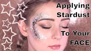 how to apply stardust body glitter to your face naio makeup