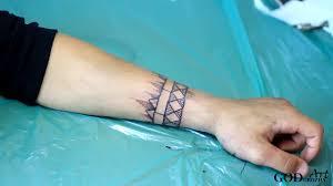 тату браслет геометрия дотворк Tattoo Armillam Geometria Dotvork