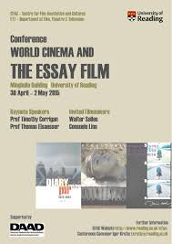 world cinema and the essay film international conference at the   poster wcef page 001 cinema and the essay
