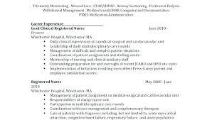 Charge Nurse Job Description Resume For Nursing Resumes Cool Charge Nurse Job Description For Resume