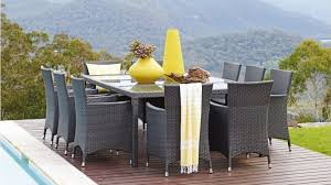 newport 11 piece outdoor rectangular dining setting