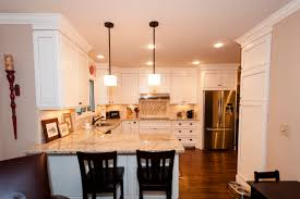 kitchen peninsula with seating traditional atlanta level