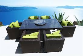brienne modern euro outdoor wicker club chair dining set patio furniture chocolate peridot view a