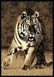 real tiger skin rug with head