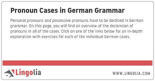 Pronoun Cases In German Grammar