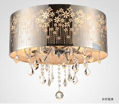 drum shade silver and crystal six light oval chandelier pertaining to drum chandelier with crystals ideas dfwago com