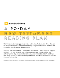 Free Bible Reading Chart Printable A 90 Day New Testament Reading Plan Printable Download Free