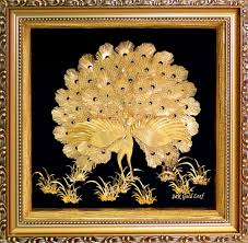 ... 24K Gold Foil 3D Dancing Peacocks Home Decor - QBestGold Gift ...