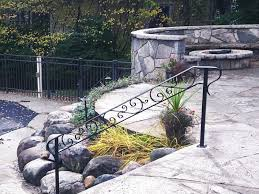 wrought iron handrail at pool great