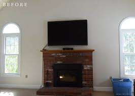 it was a classic brick fireplace and it certainly wasn t horrible especially once the walls were no longer dingy yellow however it simply wasn t what we