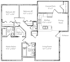 3 Bedroom Floor Plans Simple Decorating Design