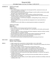 Office Manager Resume Example Template Skills Sample Tips Genius