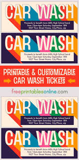 Benefit Ticket Template Printable Car Wash Tickets Car Wash Car Wash Coupons