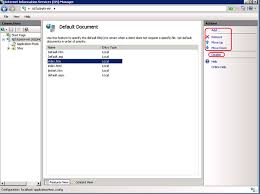 Nitasha's blog - IIS6.0 UI vs. IIS7.x UI Series: Default Document