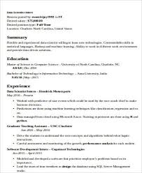 Resume Examples Data Science Resume Examples