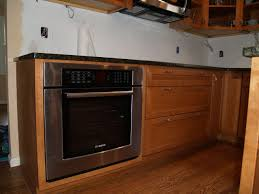wall oven cabinet rustic hickory with dual wall ovens