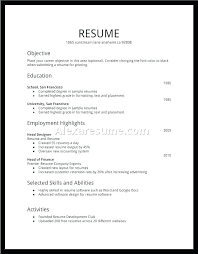 General Resume Template Inspiration Free General Resume Template First Resume Template First Job Resume