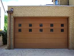 brown garage doors with windows. Timber Sectional Door With Windows Brown Garage Doors