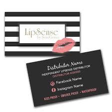 Interior Lipsense Business Cards Lipsense Business Card Horizontal