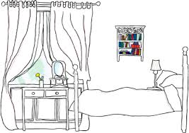 Simple Bedroom Drawing How Simple Bedroom Drawing Nongzico