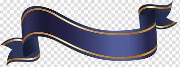 Blue Ribbon Design Blue Ribbon Ribbon Blue Banner Transparent Background