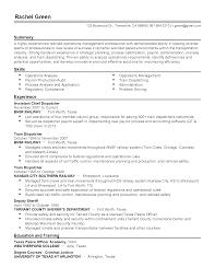 100 Dispatcher Resume Format Deckhand Resume Resume Cv